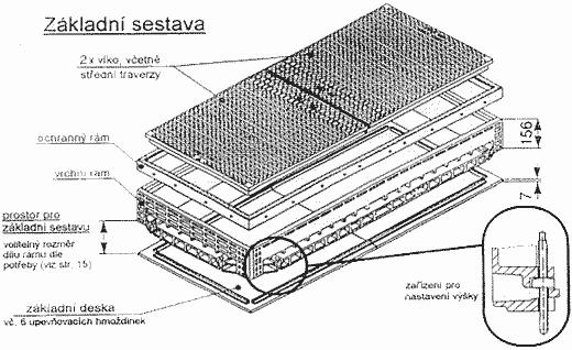 Kabelová šachta - základní sestava